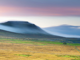 UK, England, North Yorkshire, Ribble Valley and Ingleborough Mountain on Left, One of the Yorkshire Fotoprint van Alan Copson
