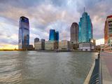 USA, New Jersey, Jersey City on the Hudson River Fotografie-Druck von Alan Copson