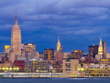 USA, New York, Manhattan, Midtown Skyline with the Empitre State Building across the Hudson River Photographic Print by Alan Copson