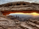 USA, Utah, Canyonlands National Park, Mesa Arch at Sunrise Photographic Print by Mark Sykes