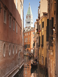 Campanile and Gondola on Canal in Venice, Italy Photographic Print by Jon Arnold
