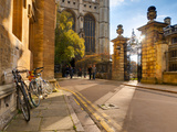 UK, England, Cambridgeshire, Cambridge, Trinity Lane, King's College Chapel Photographic Print by Alan Copson