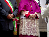Sicily, Italy, Western Europe, the Mayor and the Bishop, Figures of Power in the Staunch Catholic S Photographic Print by Ken Scicluna