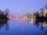 Canada, Ontario, Toronto, Cn Tower and Downtown Skyline from Toronto Island Photographic Print by Alan Copson