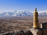 India, Ladakh, Thiksey, View of the Indus Valley from Thiksey Monastery Photographic Print by Katie Garrod