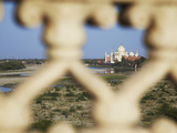 View of Taj Mahal from Agra Fort, Agra, Uttar Pradesh, India Photographic Print by Ian Trower