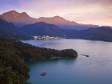 Taiwan, Nantou, View of Sun Moon Lake at Sunset Photographic Print by Jane Sweeney