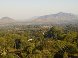 Malawi, Zomba, View over the Town of Zomba from the Lower Slopes of Zomba Plateau Photographic Print by John Warburton-lee