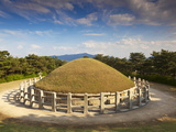 Korea, Gyeongsangbuk-Do, Gyeongju, Eastern Hill of Mt. Songha, Tomb of General Kim Yu-Sin Photographic Print by Jane Sweeney