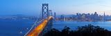 USA, California, San Francisco, City Skyline and Bay Bridge from Treasure Island Fotografisk trykk av Gavin Hellier