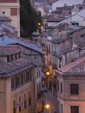 Spain, Castilla Y Leon Region, Segovia Province, Segovia, Town View over Plaza Azoguejo Photographic Print by Walter Bibikow
