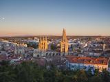 Spain, Castilla Y Leon Region, Burgos Province, Burgos, Burgos Cathedral, Elevated View Photographic Print by Walter Bibikow
