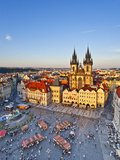 Europe, Czech Republic, Central Bohemia Region, Prague, Prague Old Town Square, Tyn Church Photographic Print by Francesco Iacobelli