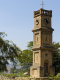Malawi, Mangochi, Queen Victoria Clocktower, Built in 1903, Is a Prominent Landmark Fotografisk tryk af John Warburton-lee