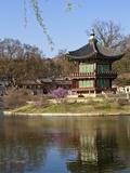 Korea, Seoul, Gyeongbokgung Palace, Hyangwonjeong Pavilion Photographic Print by Jane Sweeney