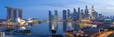 Central Business District and Marina Bay Sands Hotel, Singapore Fotografisk tryk af Jon Arnold