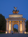 United Kingdom, England, London, Westminster, Hyde Park Corner, Wellington Arch at Night Photographic Print by Jane Sweeney