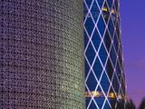 Qatar, Doha, Burj Qatar Left, Tornado Tower Right Photographic Print by Alan Copson