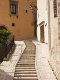 Italy, Umbria, Preci, Narrow Street in Preci, known Throughout Europe in Sixteenth Century for its  Photographic Print by Katie Garrod
