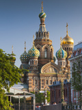 Russia, St. Petersburg, Center, Church of the Saviour of Spilled Blood on Griboedov Canal Fotografie-Druck von Walter Bibikow