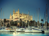 Spain, Balearic Islands, Mallorca, Palma De Mallorca, Cathedral Photographic Print by Michele Falzone