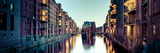 Germany, Hamburg, Warehouses and New Apartments in the Converted Speichrstadt District Fotoprint van Michele Falzone