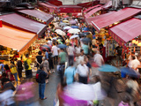 Busy Market Street, Wan Chai, Central District, Hong Kong Island, Hong Kong, China Photographic Print by Gavin Hellier