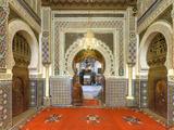 Morocco, Fes, Medina (Old Town), Zaouia Moulay Idriss Ii Mausoleum Photographic Print by Michele Falzone