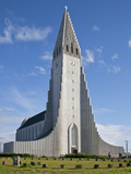 Hallgrimskirkja, Iceland's Iconic Lutheran Church in Reykjavik, Took 34 Years to Build after World  Photographic Print by Nigel Pavitt