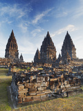 Temples at Prambanan Complex, Java, Indonesia Photographic Print by Ian Trower