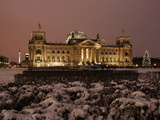 The German Parliament in the Old Reichstag Building, Berlin, Germany Photographic Print by David Bank