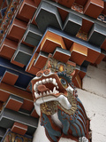 The Architectural Corner Detail of Roof of New Temple Near Kurjey Lhakhang with a Carving of Dragon Photographic Print by Nigel Pavitt