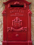 Malta, Europe, a Coloured Letter Box, Normally Found in Village or Town Cores Complimenting Colourf Photographic Print by Ken Scicluna