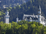 Neuschwanstein Castle Viewed from the Village of Schwangau, Bayern, Germany Photographic Print by Cahir Davitt