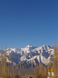 India, Ladakh, Leh, Stok Kangri Peak from Leh, Stok Kangri Is the Highest Mountain in Stok Range in Photographic Print by Katie Garrod