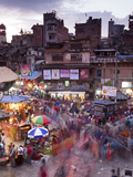 Asan Tole, Kathmandu, Nepal, Central Market at Dusk Photographic Print by Peter Adams