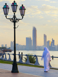 United Arab Emirates, Abu Dhabi, City Skyline at Dawn Photographic Print by Alan Copson
