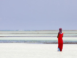Tanzania, Zanzibar, Unguja, Pongwe, a Lady Looks Out to Sea Photographic Print by Nick Ledger
