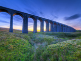 UK, England, North Yorkshire, Ribblehead Viaduct on the Settle to Carlisle Railway Line Photographic Print by Alan Copson