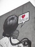 I Love Berlin' Mural on Building, Berlin, Germany Photographic Print by Jon Arnold