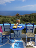 Tavern Near Chora Sfakion, Crete, Greece Fotografisk tryk af Katja Kreder