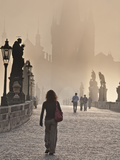 Europe, Czech Republic, Central Bohemia Region, Prague, Charles Bridge Photographic Print by Francesco Iacobelli
