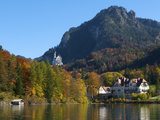 Neuschwanstein Castle Ans Lake Alpsee, Allgaeu, Bavaria, Germany Photographic Print by Katja Kreder