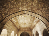 Ceiling of Khas Mahal in Agra Fort, Agra, Uttar Pradesh, India Photographic Print by Ian Trower
