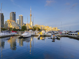 Canada, Ontario, Toronto, Marina Quay West, Skyline with Cn Tower Photographic Print by Alan Copson