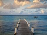 Venezuela, Archipelago Los Roques National Park, Gran Roque, Pier Fotografisk tryk af Jane Sweeney