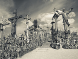 Lithuania, Central Lithuania, Siauliai, Hill of Crosses, Religious Pilgrimage Site Photographic Print by Walter Bibikow