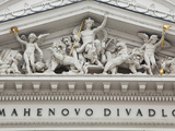 Brno, Czech Republic, Detail from the Opera Theatre Photographic Print by Ken Scicluna