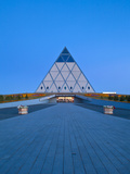 Kazakhstan, Astana, Palace of Peace and Reconciliation Pyramid Designed by Sir Norman Foster Photographic Print by Jane Sweeney