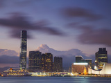 International Commerce Center (ICC) and Tsim Sha Tsui at Dusk, Kowloon, Hong Kong, China Photographic Print by Ian Trower